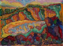 Maurice Léonce SAVIN (1905-1978)La falaise du Pouldu