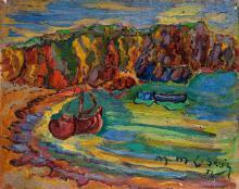 Maurice Léonce SAVIN (1905-1978) La plage au Pouldu