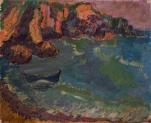 Maurice Léonce SAVIN (1905-1978) La plage du Pouldu