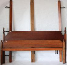ELDRED WHEELER BED. CHERRY WOOD KING SIZE LOW