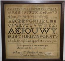 SCHOOLGIRL SAMPLER FROM FAIRHAVEN SEMINARY,