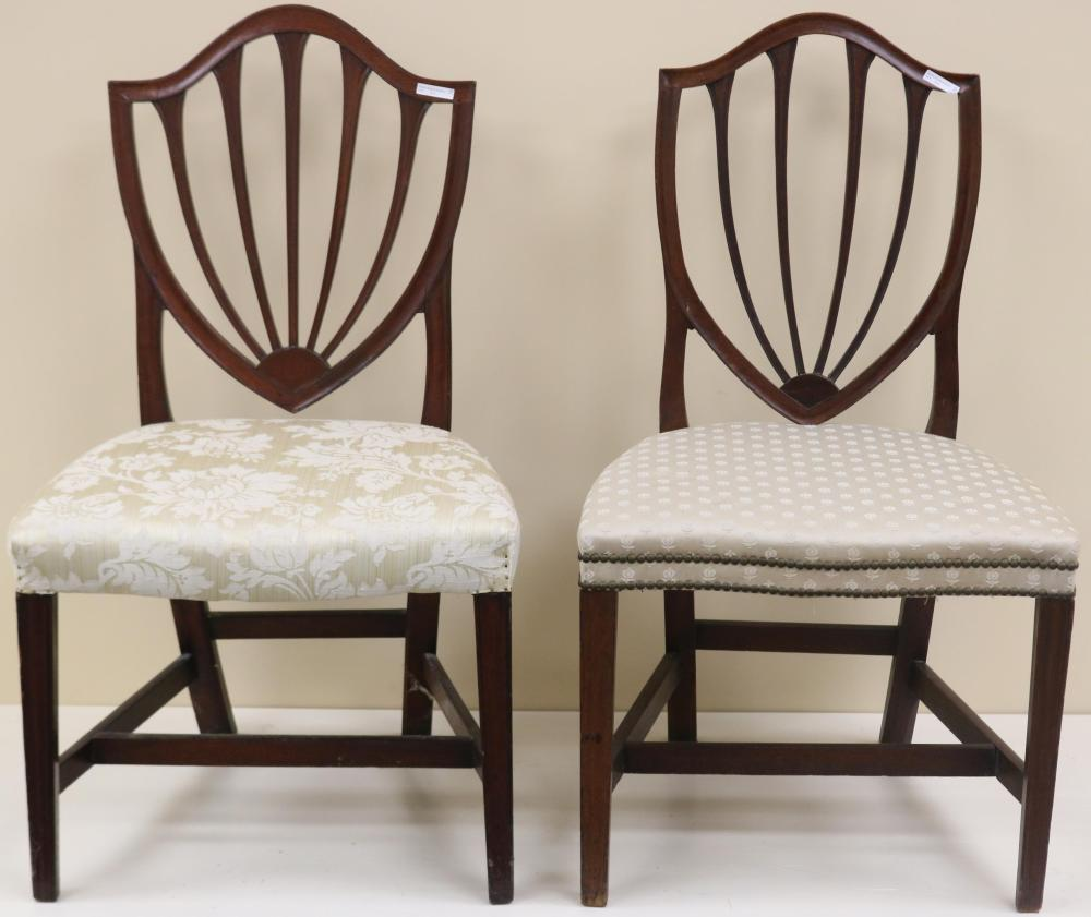 A PAIR OF VERY SIMILAR LATE 18TH CENTURY AMERICAN
