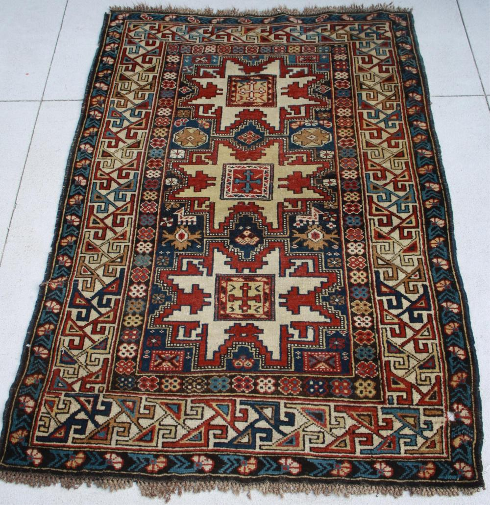 LATE 19TH CENTURY CAUCASIAN SCATTER RUG,