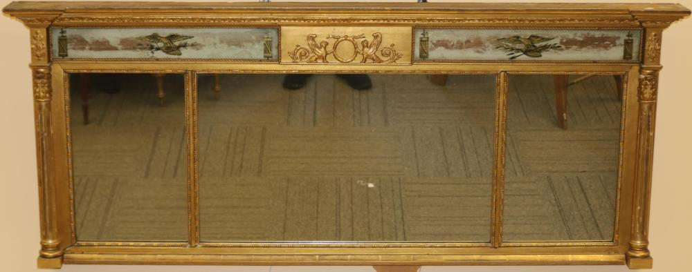 LATE 19TH CENTURY FEDERAL STYLE OVER-MANTEL