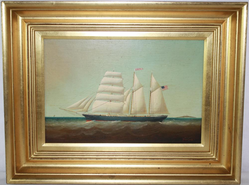 BRYAN COOLE (B. 1939, UK, US) OIL ON BOARD,