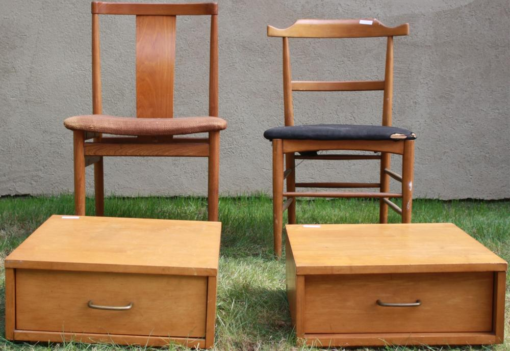 LOT OF FOUR PIECES OF MID-CENTURY MODERN