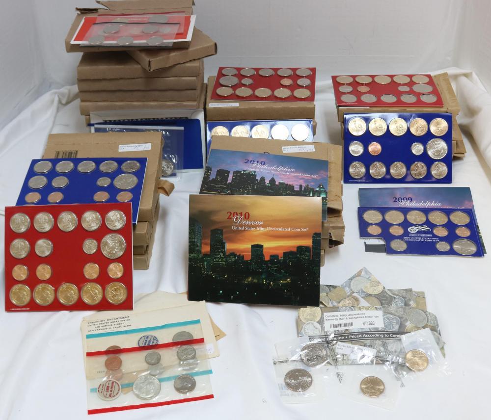 28 MINT SETS, 1969 P & D $1.33 FACE, 1 2006 P & D