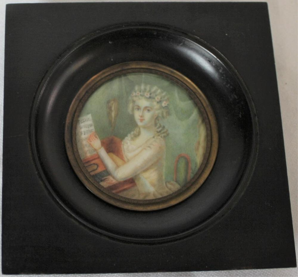 LATE 18TH CENTURY MINIATURE PORTRAIT OF A WOMAN