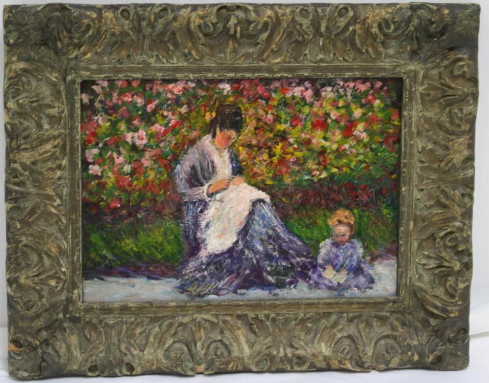 LATE 19TH CENTURY FRENCH IMPRESSIONIST STYLE OIL