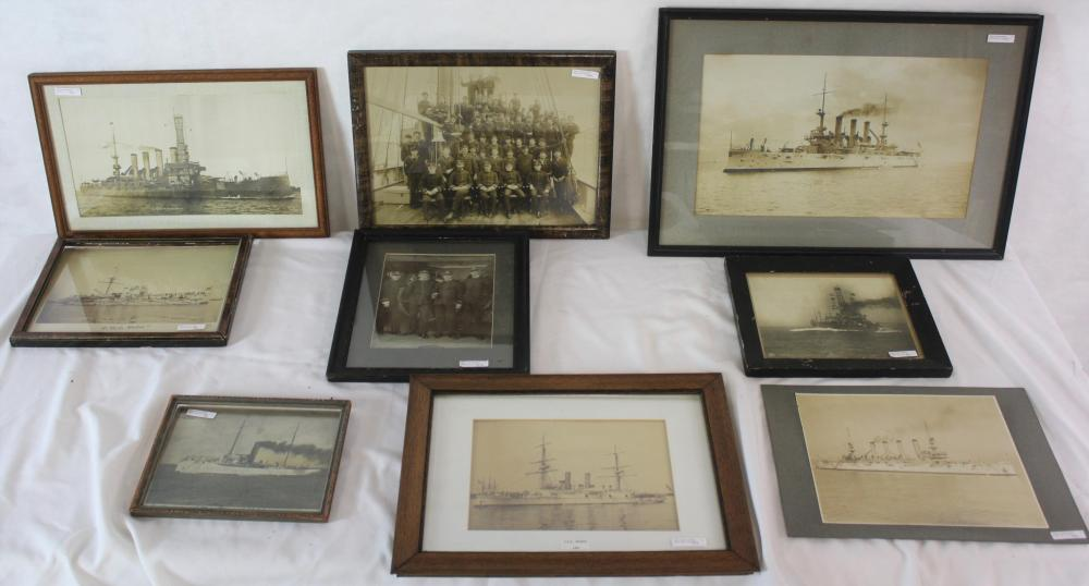 LOT OF 9 LATE 19TH - EARLY 20TH CENTURY NAVAL