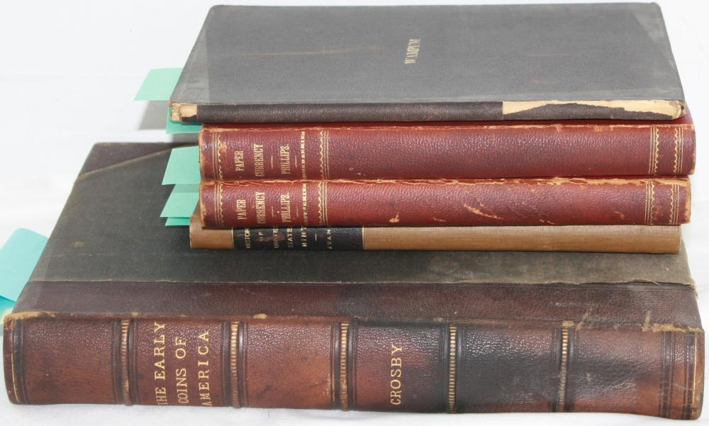 COLLECTION OF 5 BOOKS RELATED TO CURRENCY. TO