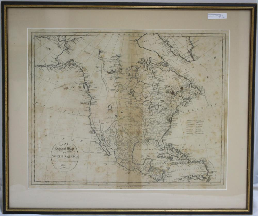 1775 MAP OF NORTH AMERICA, PUBLISHED BY SMITH,