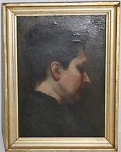OIL ON BOARD ATTRIBUTED TO WILLIAM MERRITT CHASE,