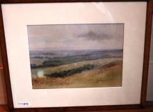 ATTRIBUTED TO LEROY YALE, FRAMED WATERCOLOR,