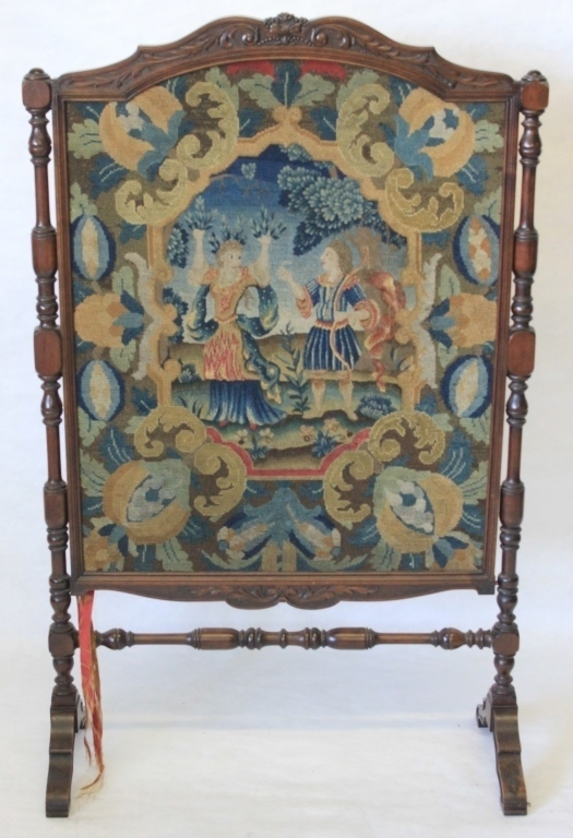 Late 19th C Continental Firescreen Inset With