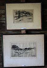 LEROY YALE (1841-1906, NONQUITT ARTIST), 2 FRAMED