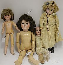 FOUR ARMAND MARSEILLE DOLLS, ONE QUEEN LOUISE,