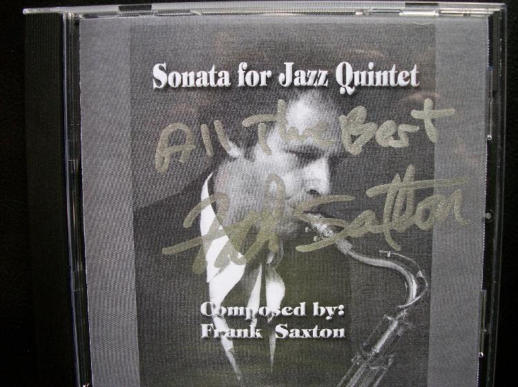 Frank Saxton Autographed CD