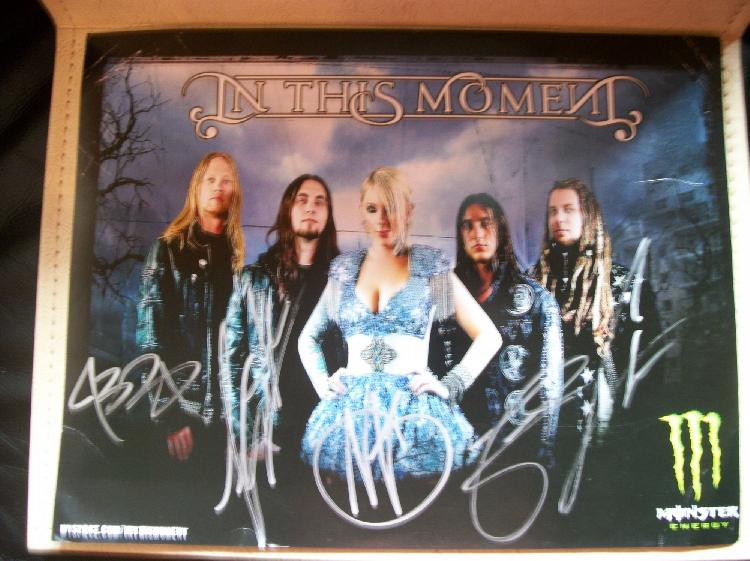 In This Moment Band Autograph Hero Card