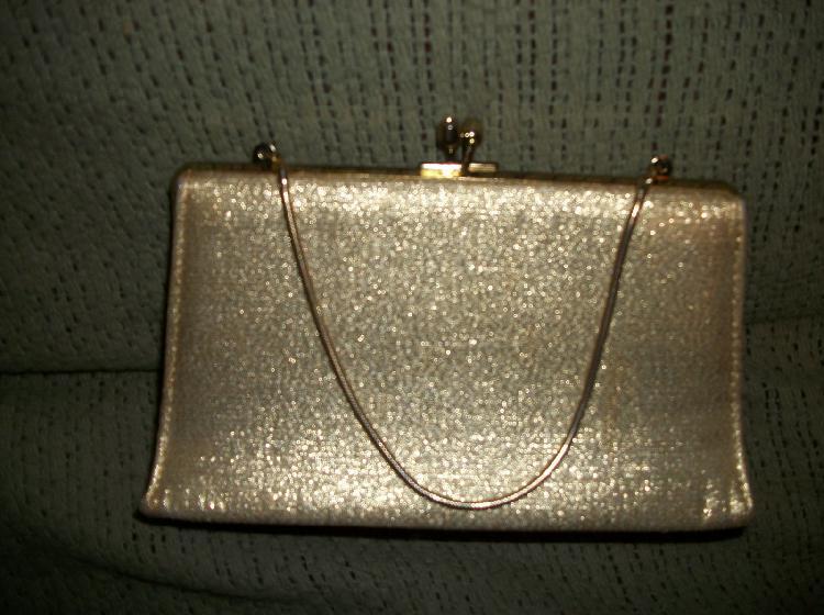 Vintage Gold Lame Purse