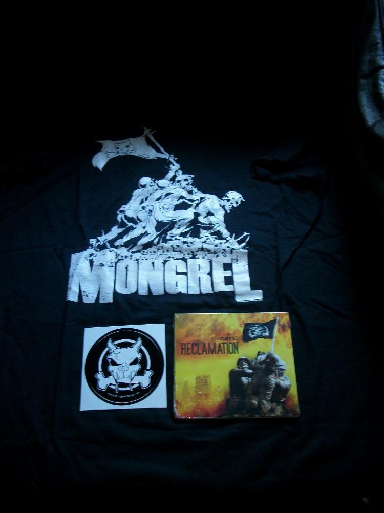 Mongrel T-Shirt CD & Sticker