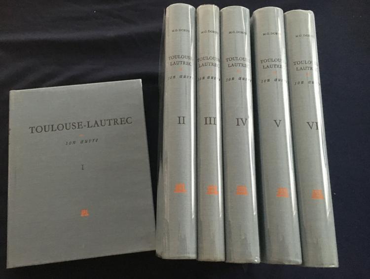 TOULOUSE-LAUTREC et Son Oeuvre. Six Volumes