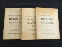Catalogue de l'oeuvre gravé de Dunoyer de Segonzac. 3 volumes.