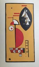 KANDINSKY with a Woodcut by Kandinsky.