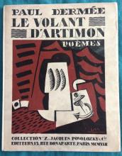 Paul Dermee. Le Volant d?Artimon with 3 woodcuts by Louis Marcoussis