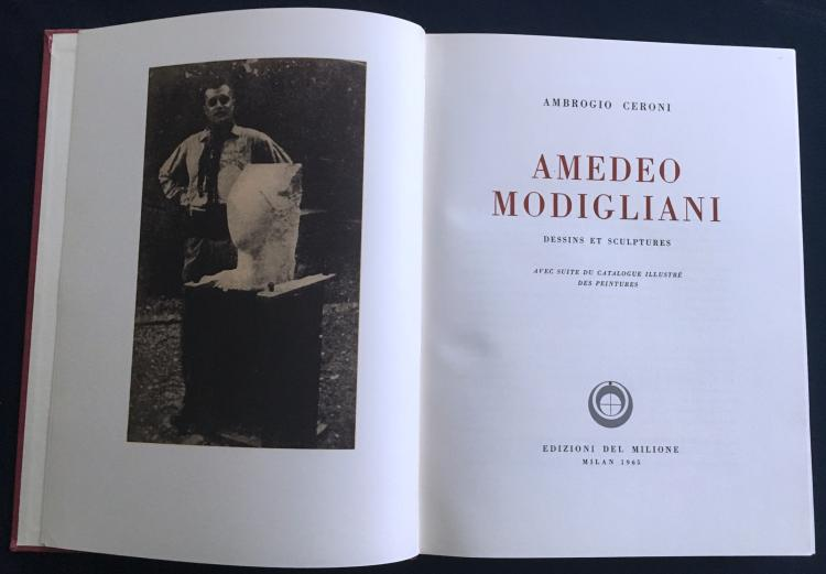 Amedeo Modigliani Dessins et Sculptures, avec suite du Catalogue.