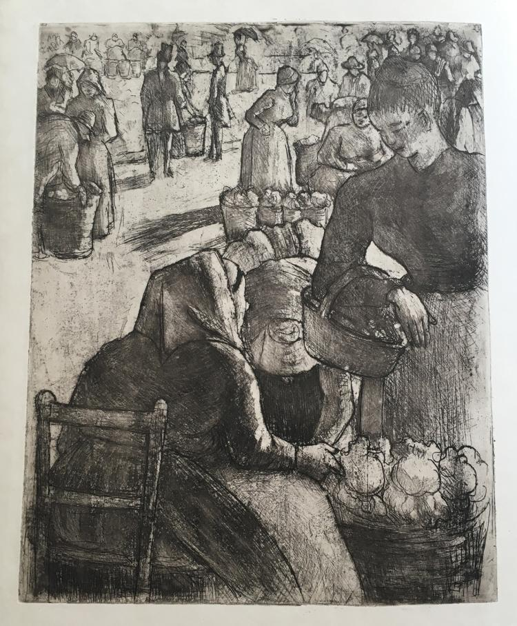 Le peintre-graveur illustré. Deluxe edition in Japan paper with original etching by Renoir and Pissarro.