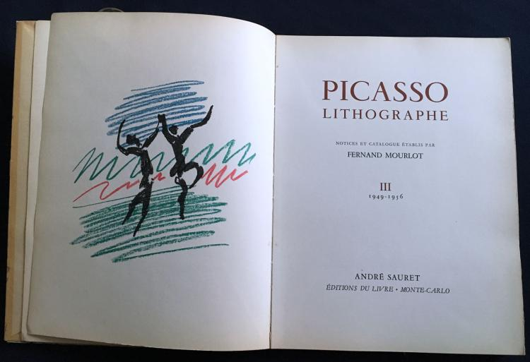 Pablo Picasso.  Picasso lithographe vol 3 and 4., with 4 Original lithographs by Picasso.