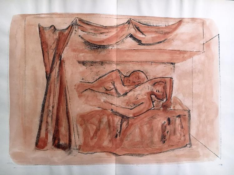 Massimo Campigli.  Il Lamento del Gabelliere: 10 hand colored Original Lithographs.