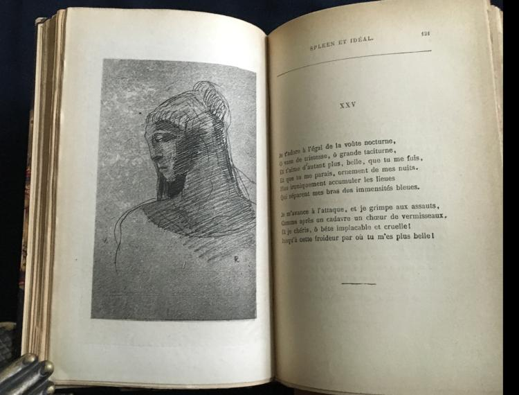 Odilon Redon. Charles Baudelaire Les Fleurs du Mal with 9 engravings by Redon.