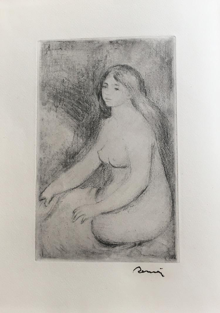 La Vie et l'Œuvre de Pierre-Auguste Renoir. With one original etching by Renoir.