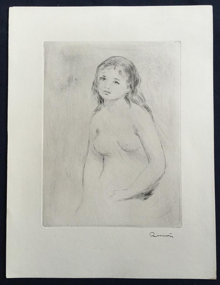 Pierre-Auguste Renoir: Etude pour une baigneuse (Study for Woman Bathing), 1906.