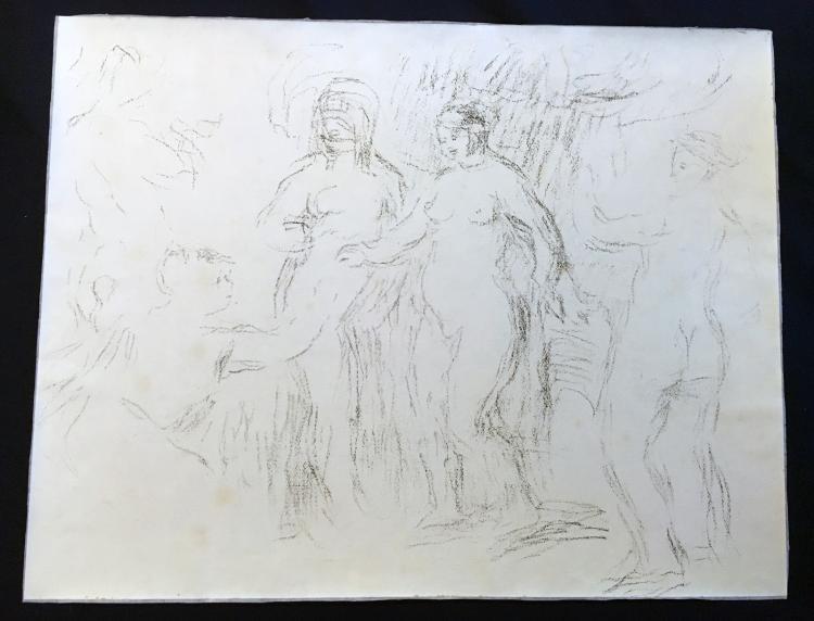 Pierre Auguste Renoir: Les baigneuses (Delteil 51/ Stella 51) lithograph, circa 1912
