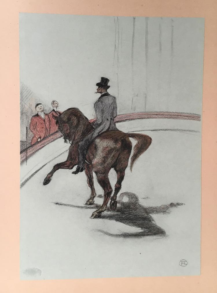 Au Cirque. Dessins by Henri de Toulouse-Lautrec, with 39 lithographs by Toulouse-Lautrec.