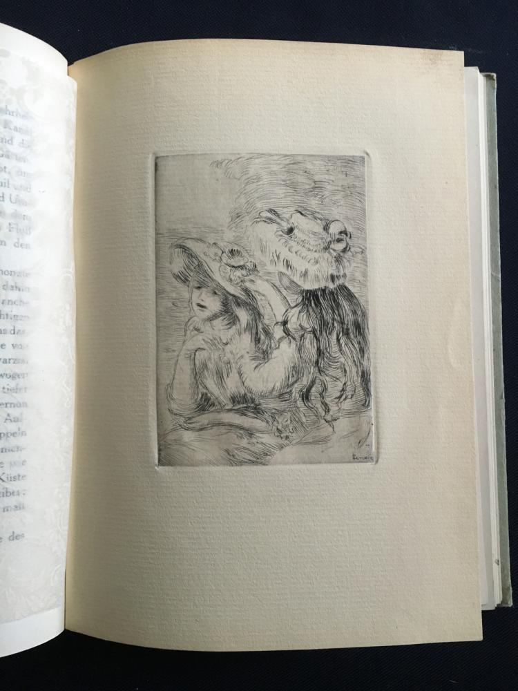 Die Impressionisten, with one woodcut after Cezanne and two etchings by Renoir.