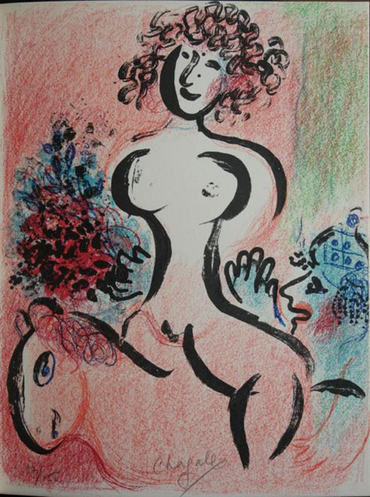Chagall Lithographe. Volume 2 DELUXE EDITION, with two signed lithographs by Chagall.