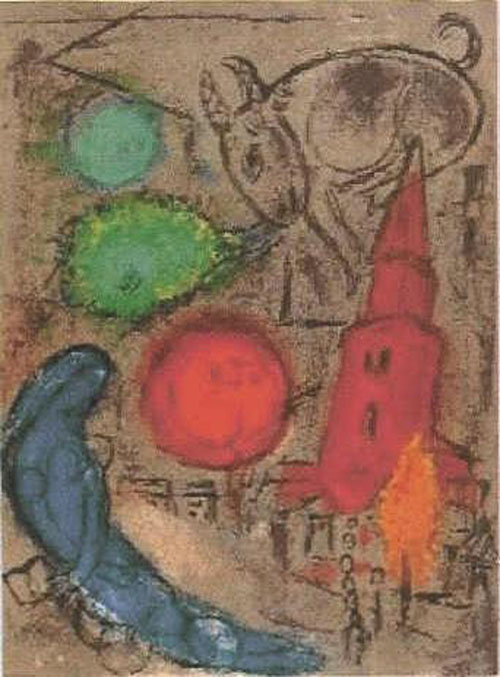 Marc Chagall. St German le Pres. 1954.