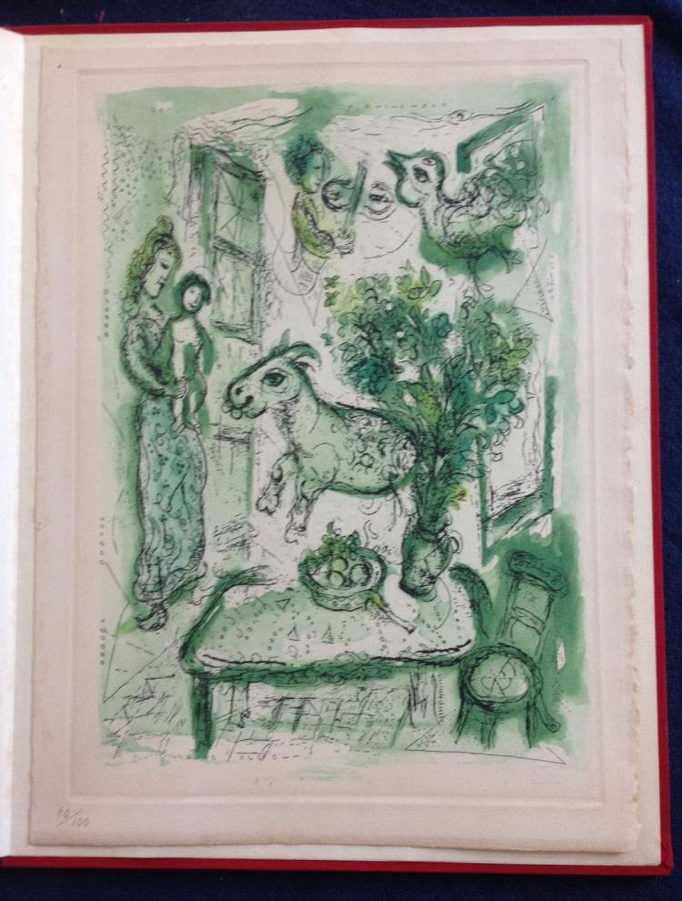 Life and work. DELUXE EDITION, with a colored etching with aquatint by Chagall.