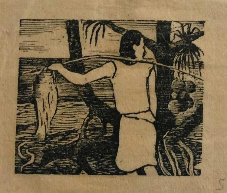 Noa Noa. 17 woodcuts after Paul Gauguin, engraved by George Daniel de Monfried for the publication of Noa Noa, Vojage de Tahiti manuscript.