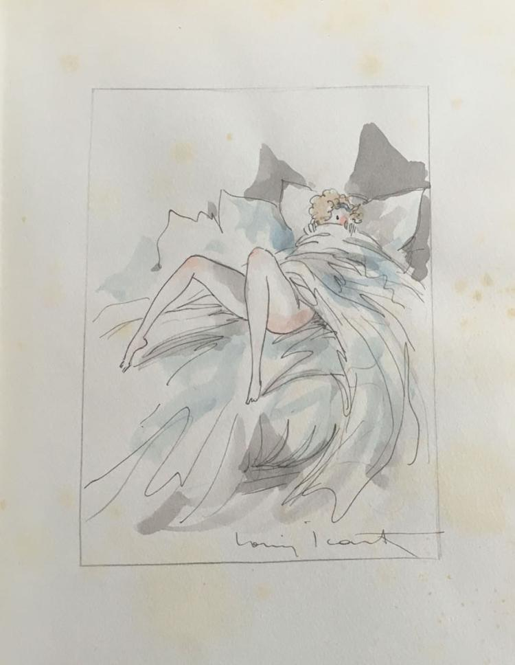 LA NUIT ET LE MOMENT (DELUXE EDITION), with an original watercolor signed by Icart.