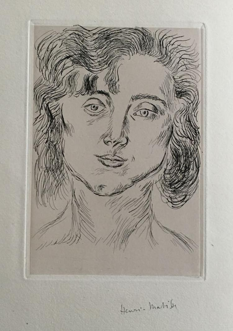 Cinquante Dessins par Henri Matisse, with one original etching signed by Matisse.
