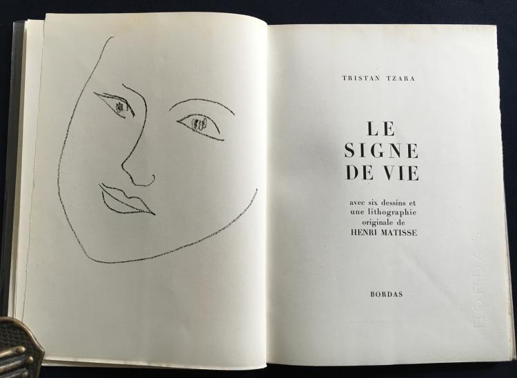Le Signe de Vie, Six dessins and one original lithograph by Matisse.