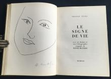 Le Signe de Vie. With one original lithograph by Matisse signed in pencil.