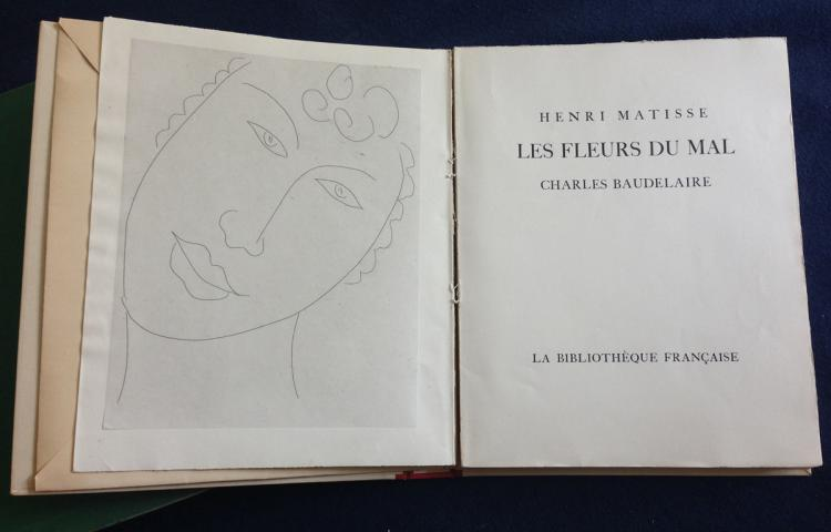 Le Fleurs du Mal. Charles Baudelaire illustrated by Matisse with one original etching.