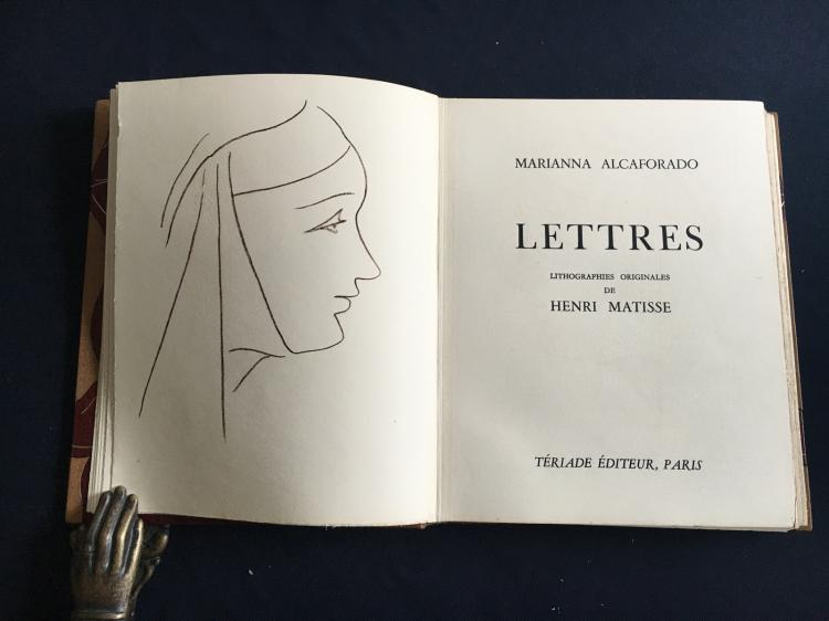Les Lettres Portugaises (DELUXE EDITIION), with 15 lithographs plus an extra suite of 12 prof studies of the lithographs by H. Matisse.