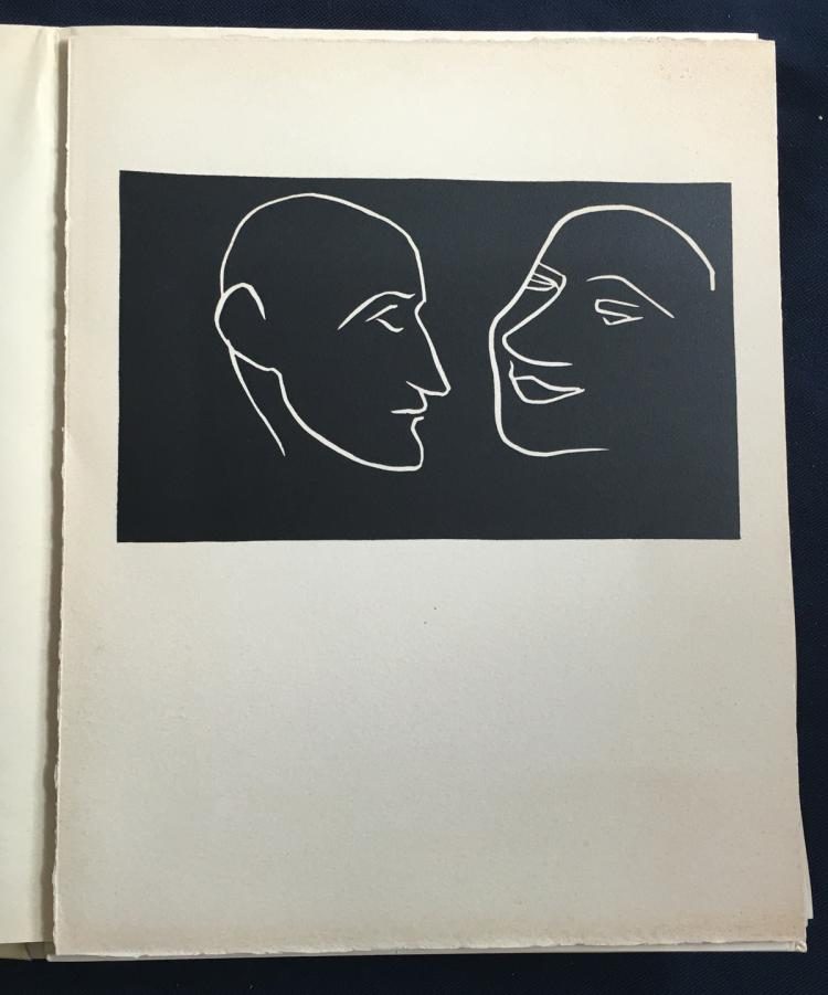 Lettres à Lou avec une introduction d'André Rouveyre. Apollinair Guillaume illustrated with a Wood engraved in frontispiece by Matisse.